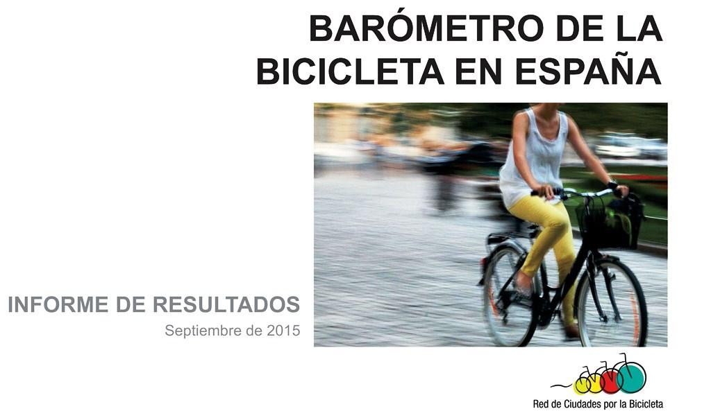Portada Barometro de la Bicicleta 2015 - Red de Ciudades por la Bicicleta